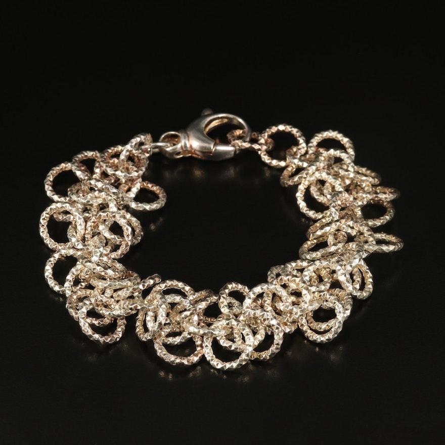 Italian Sterling Diamond Cut Bracelet