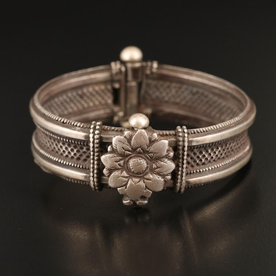 Orissan Indian Sterling Lotus Bangle