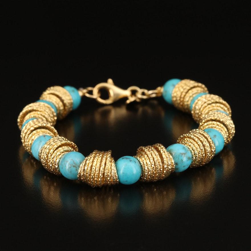 Italian Milor Sterling Turquoise Bracelet