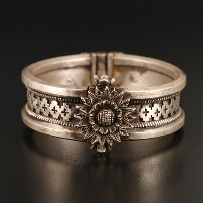 Orissan Indian Sterling Lotus Bracelet