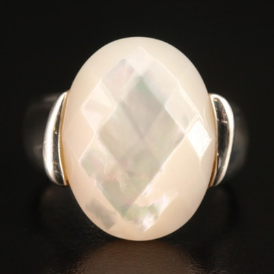 Michael Dawkins Sterling Silver Mother of Pearl Ring