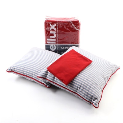 Vellux Microfleece Full/Queen Blanket and Bagolitas Boutique Pillows