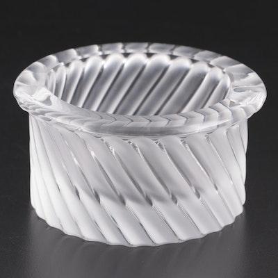 "Lalique Crystal ""Smyrne"" Ashtray"