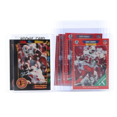 1989-1991 Wild Card and NFL Pro Set Barry Sanders Draft Pick Cards