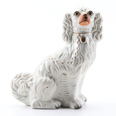 Staffordshire Style Spaniel Figurine, Early 20th Century