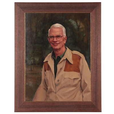P. Lynch Oil Painting Portrait of Snowden Rowe