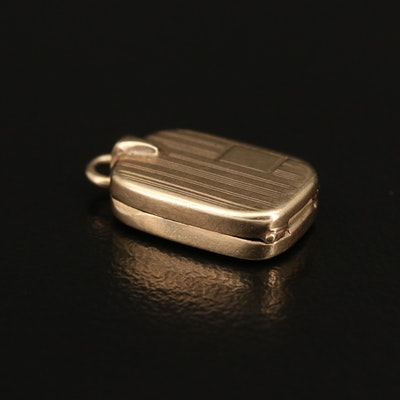 Vintage Articulated 14K Cigarette Case Charm