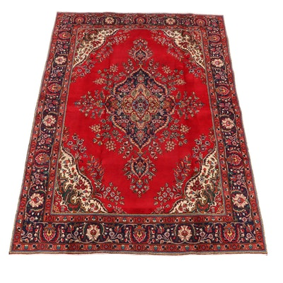 8'3 x 11'8 Hand-Knotted Persian Kerman Wool Area Rug