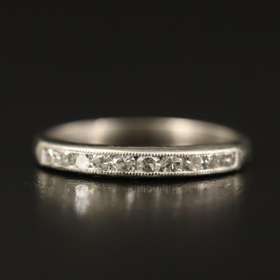 Vintage Platinum Diamond Milgrain Band