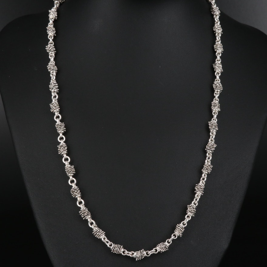 "Michael Dawkins ""Granulation"" Sterling Silver Necklace"