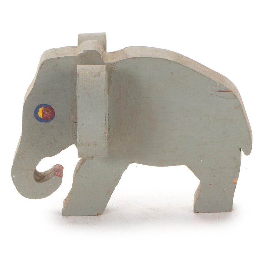 "Norman Scott ""Butch"" Quinn Folk Elephant Sculpture, Late 20th Century"