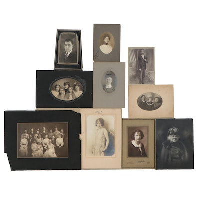 Family and Portrait Silver Print Photographs, Early 20th Century