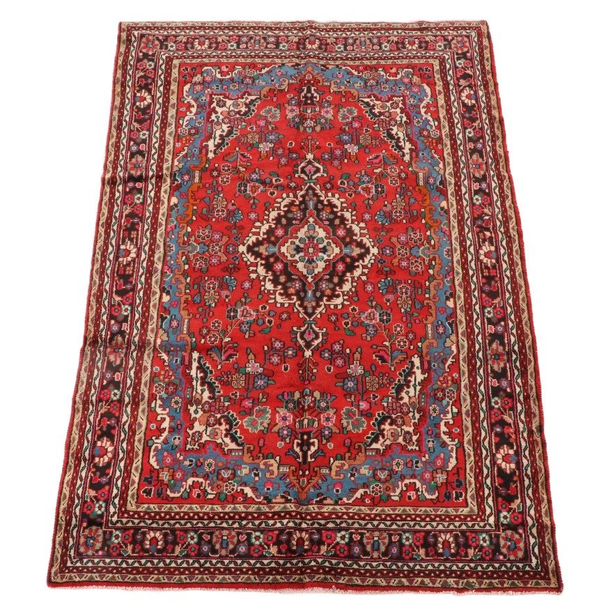 6'8 x 10'7 Hand-Knotted Persian Arak Wool Area Rug
