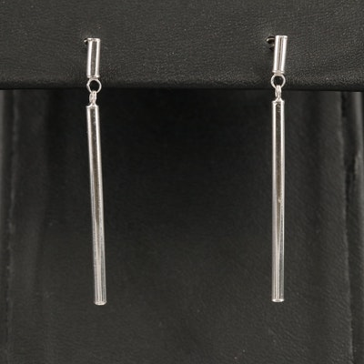 18K Bar Dangle Earrings