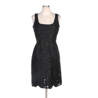 BB Dakota Black Lace Style Embroidered Sleeveless Cocktail Dress