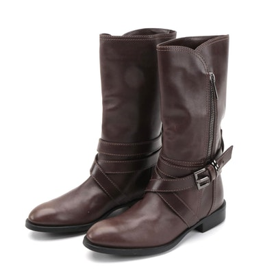 Tod's Dandy Brown Leather Moto Boots
