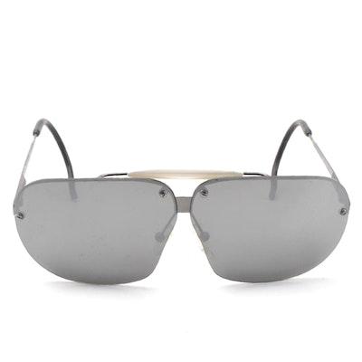 Bottega Veneta Rimless Aviator Sunglasses with Case