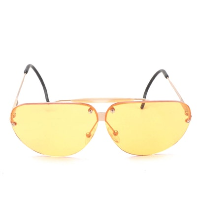 Bottega Veneta 55808 Rimless Sunglasses with Orange Lenses