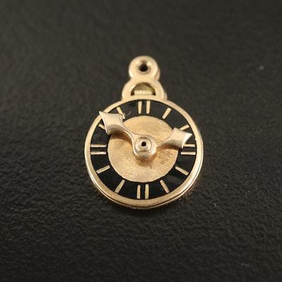 Vintage 14K Clock Charm