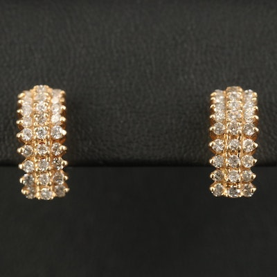 14K 1.01 CTW Diamond Step Earrings