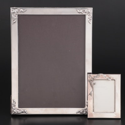 Gucci and Camusso Sterling Silver Picture Frames, Late 20th Century