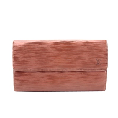 Louis Vuitton Porte-Monnaie Credit NM Wallet in Kenyan Fawn Epi Leather