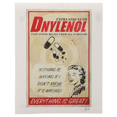 """Denial Giclée """"Dnylenol,"""" 21st Century"""