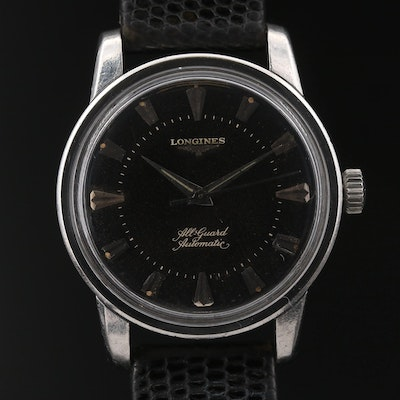 1956 Longines All Guard Stainless Steel Automatic Wristwatch
