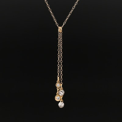 10K Cubic Zirconia Y Necklace