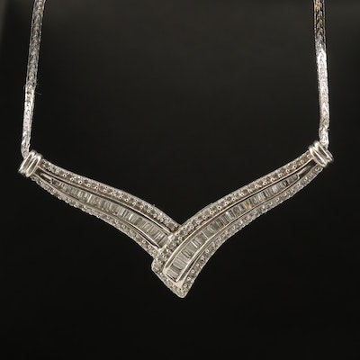 14K 1.76 CTW Diamond Chevron Necklace