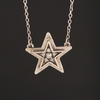 Adina Reyter Sterling Diamond Star Necklace