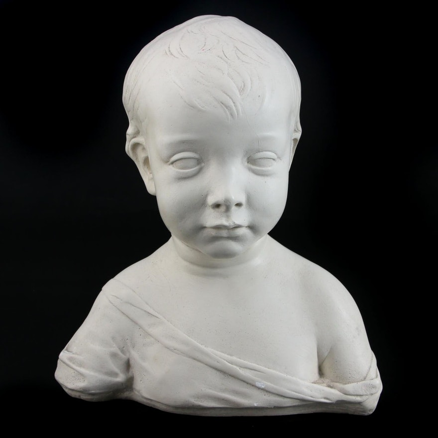 National Gallery of Art Composite of Little Boy Scupture, Late 20th Century