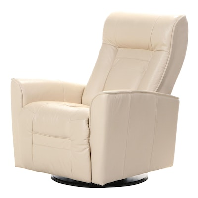 "Palliser ""My Comfort Glacier Bay II"" Leather Swivel Rocking and Reclining Chair"