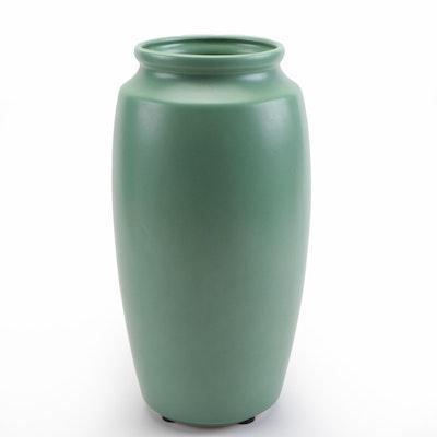 Teco Pottery Sage Green Classic Vase, 21st Century