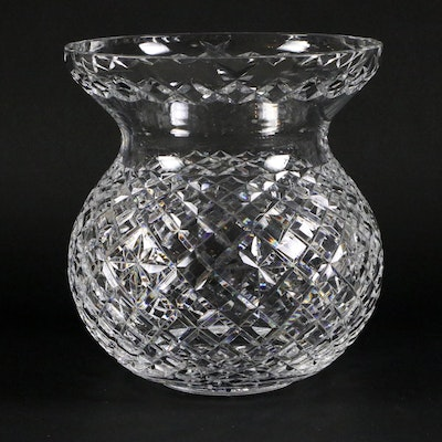 "Waterford Crystal ""Adare"" Corset Bouquet Vase, Mid to Late 20th Century"