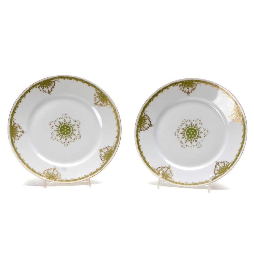William Guerin & Co. Limoges Porcelain Salad Plates