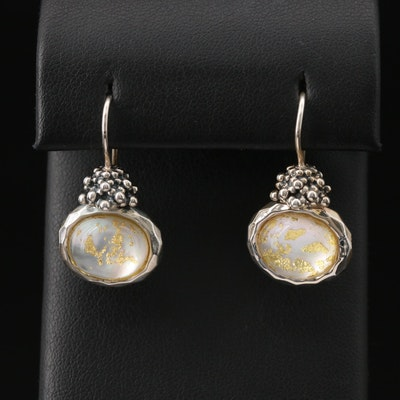 Michael Dawkins Sterling Quartz and Mother of Pearl Doublet