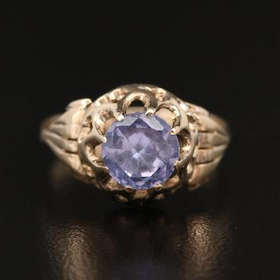 Vintage 10K Color Change Sapphire Ring