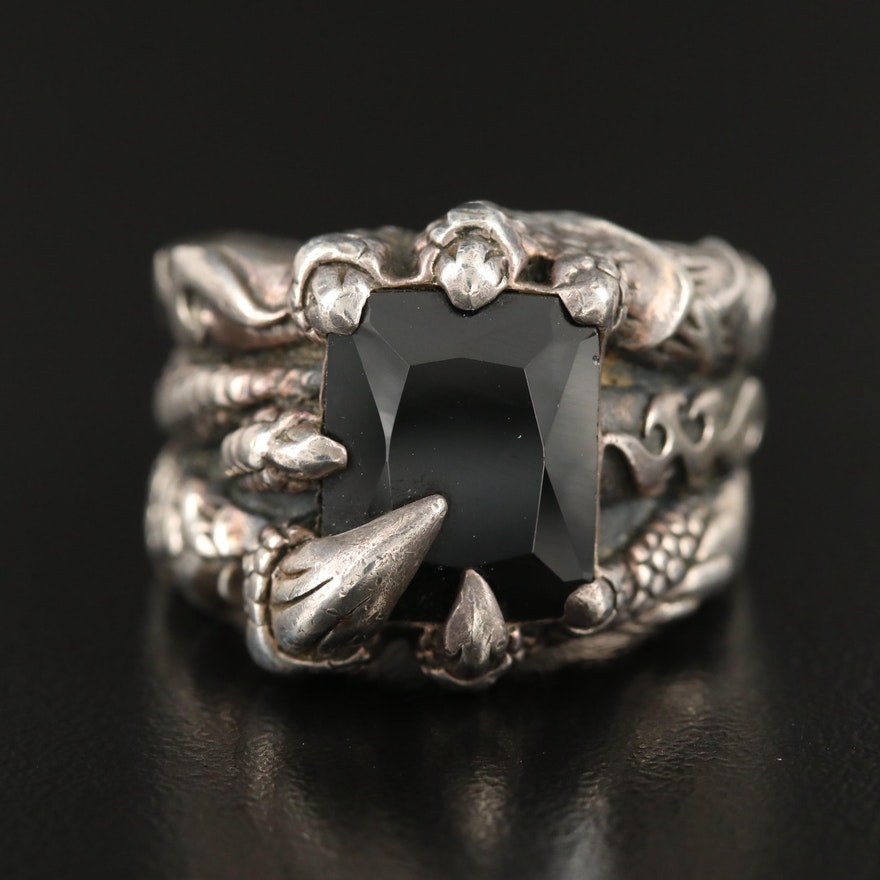 Sterling Cubic Zirconia Dragon Claw Ring