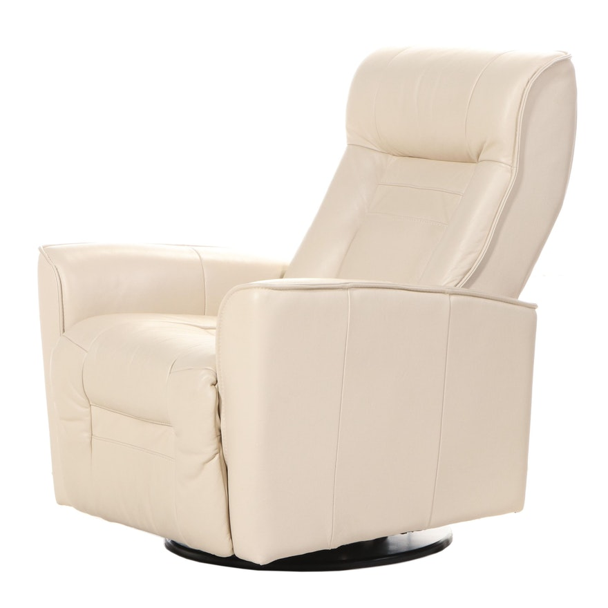 "Palliser ""My Comfort Glacier Bay II"" Leather Swivel Rocking and Reclining Chair"