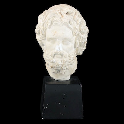 Alva Studios Plaster Bust After Asclepius of Milos, Late 20th Century