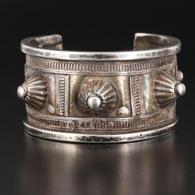 Sterling Silver Spiked Tribal Style Cuff