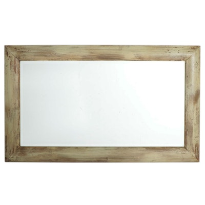 Rectangular Italian Composite Wood Wall Mirror