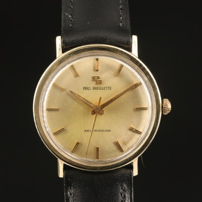 Vintage Paul Breguette 10K Gold Filled Automatic Wristwatch