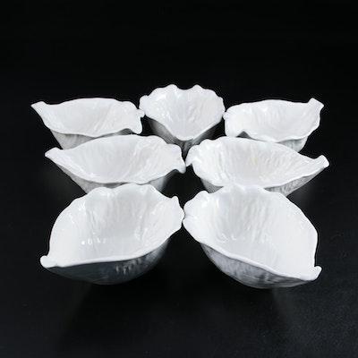 """Secla """"Cabbage White"""" Ceramic Gravy Boats, Late 20th Century"""