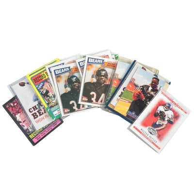 1980s Walter Payton Chicago Bears NFL Football Cards