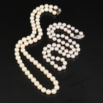 Pearl Necklaces Including Sterling Silver Clasp