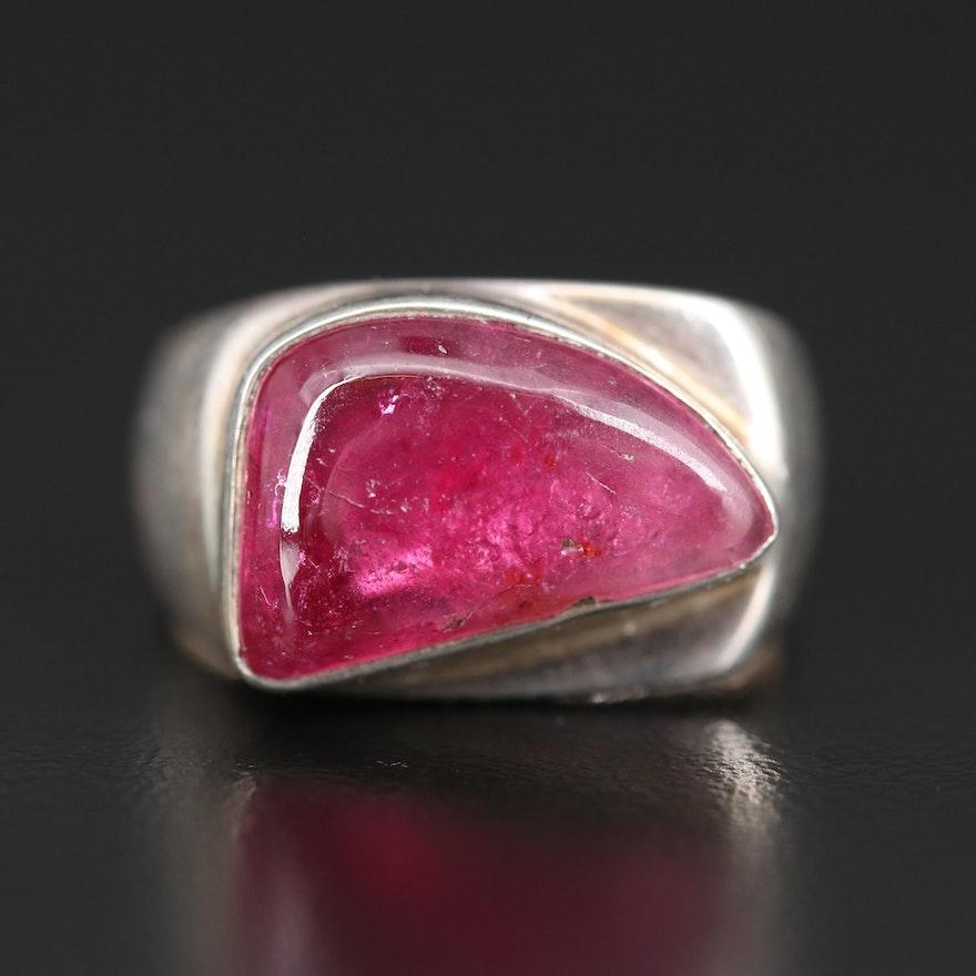 Sterling Freeform Tourmaline Ring