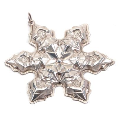 Gorham Sterling Silver Christmas Snowflake Ornament, 1975