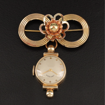 "1941 ""Lady Elgin Anniversary"" Watch Brooch"